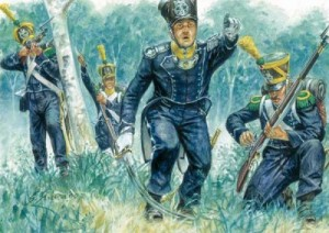 Leichte Infanterie beim Tiraillieren