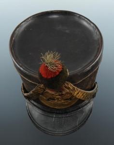 Original Tschako von 1812 eines Voltigeurs - Ansicht von oben