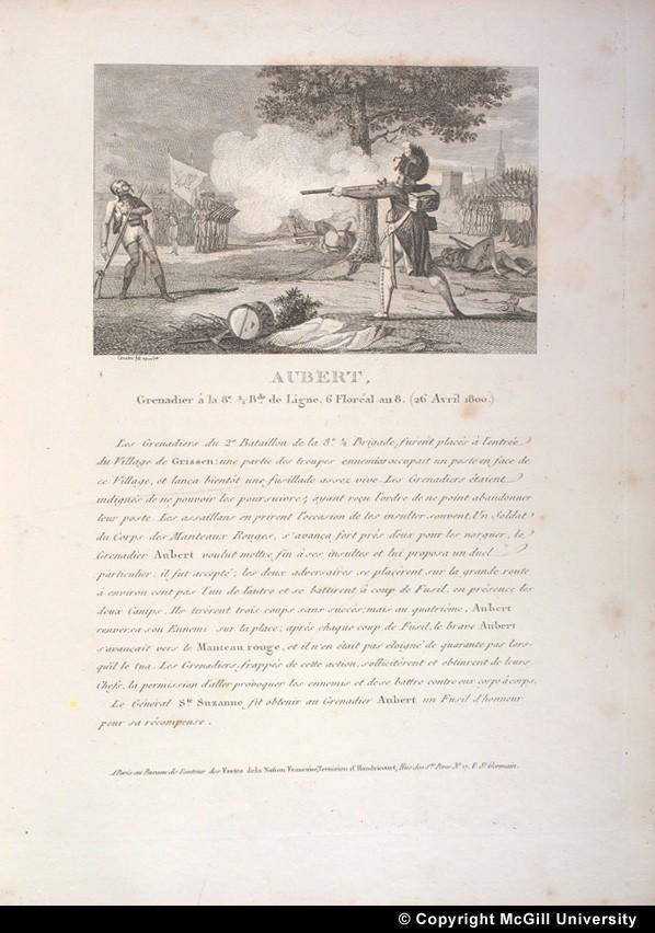 Das Duell in Grissen am 26. April 1800