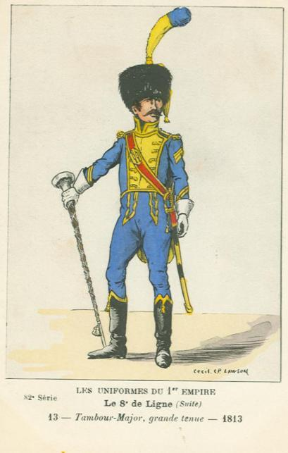 8eme-tambour-major-in-grosser-uniform-1813