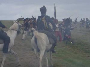 Im Handgemenge mit der Kavallerie