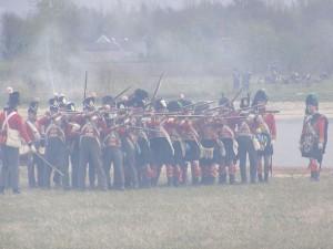 Bild 20 - Im Feuergefecht mit der  britischem  Infanterie