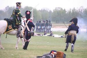 Bild 13 - Einige Preussen brechen durch und wollen unseren General gefangen nehmen