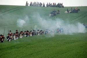 Bild 26 - Erste Scharmützel ,mit dem Feind im Roggenfeld