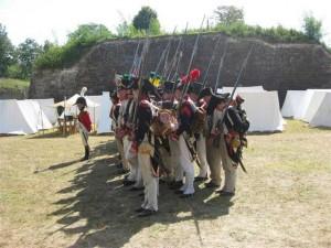 Bild 8 - Der Kampf is unvermeidlich - Ausmarsch der Infanterie mit der 6ème, 8ème, 22ème, 48ème und 112ème