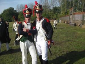 Bild 2 - Die Grenadiere Taside und Jean-Francois sind bester Dinge