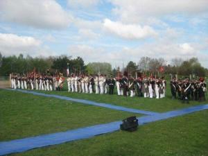 Bild 3 - Das gesamte Bataillon in Linie