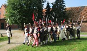 Bild 6 - Mit unseren Verbündeten Westphalen marschieren wir zur Parade