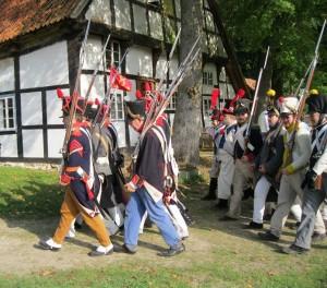 Bild 13 - Ausmarsch aus der Schleppenburg