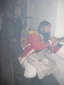 Bild 14 - Im schweren Abwehrkampf