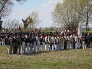 Bild 28 - Unsere Infanterie sammelt sich zum entscheidenen Gegenangriff.