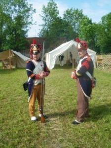 Bild 03 - Doch der Dienst ruft. Serrurier und l'Epaule übernehmen die erste Wache.