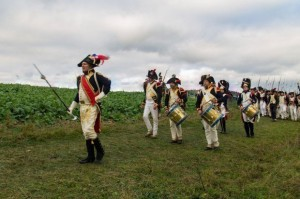Bild 17 - Unser Musikkorps vom Bataillon macht bei der Verfolgung des Gegners die Tete