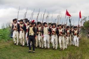 Bild 18 - Gefolgt von unseren belgischen Freunden, die das 1. Peloton unseres Batallions bilden.
