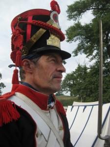 Bild 09B - Grenadier Jean-Francois ist zu allem bereit.