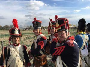 Bild 29 A - Mon chi chi, Taside, Henri und l´ Epaule sind wie immer guter Dinge. Daneben unsere Verbündeten - die Baiern.