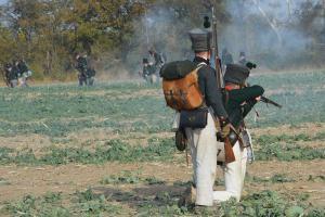 Bild 34 - Sächsische leichte Infanterie beim Tiraillieren.