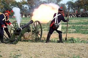 Bild 41 - Unsere Artillerie schiesst sich langsam ein.