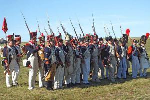 Bild 31 - Es nimmt die Stellung als Vorpostenbataillon ein.