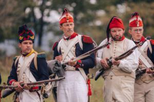 Bild 04 - ...der Hahn der Muskete gespannt...