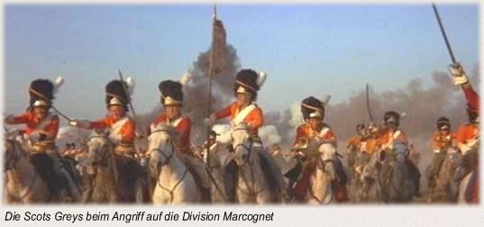 Die Scots Greys beim Angriff auf die Division Marcognet