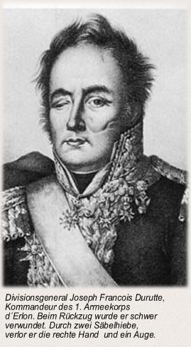 Divisionsgeneral Joseph Francois Durutte, Kommandeur des 1. Armeekorps d´Erlon.