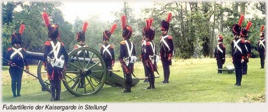 Fußartillerie der Kaisergarde in Stellung