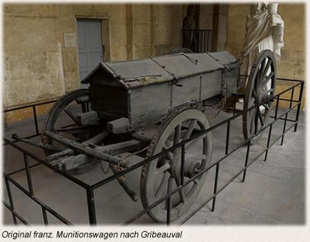 Original franz. Munitionswagen nach Gribeauval