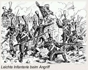 Leichte Infanterie beim Angriff