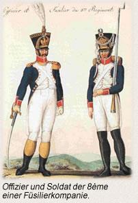 Offizier und Soldat der 8ème einer Füsilierkompanie.