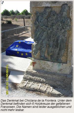 Denkmal bei Chiclana de la Frontera