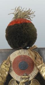 Original Tschako von 1812 eines Voltigeurs - Pompon