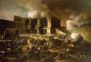 Die belagerte Festung von Burgos unter Befehl des französischen Generals Dubreton.