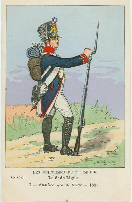 8eme-fuesilier-der-2-fuesilierkompanie-des-2-bataillons-in-grosser-uniform-1807