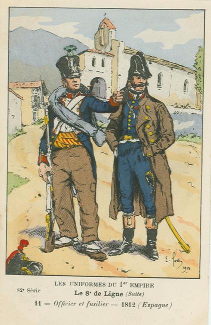 8eme-fuesilier-und-offizier-der-1-kompanie-vom-2-bataillon-in-spanien-1812