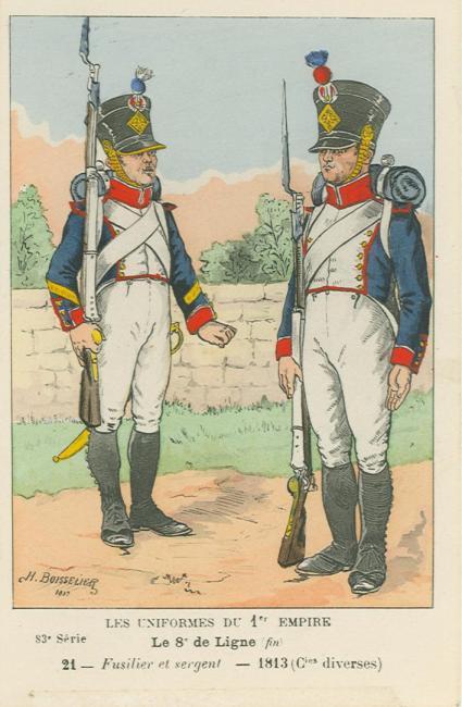 8eme-fuesilier-und-sergeant-einer-fuesilierkompanie-1813