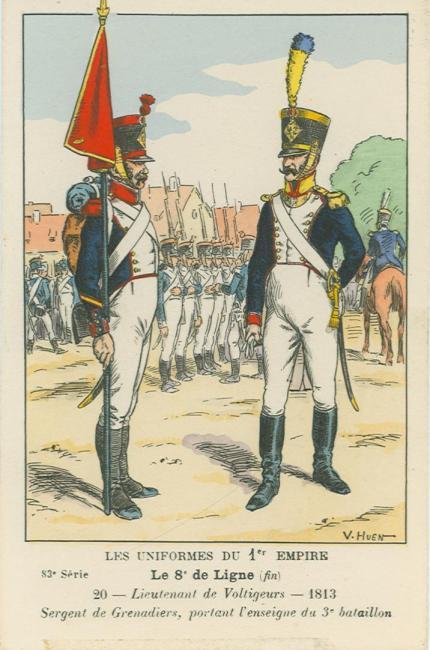 8eme-sergeant-der-grenadierkompanie-standartentraeger-und-lieutenant-der-voltigeure-3-bat-1813
