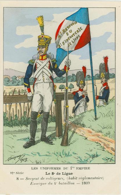 8eme-sergeant-der-voltigeur-kompananie-4-bataillon-1809