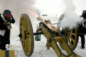 Die Artillerie eröffnet die Schlacht!