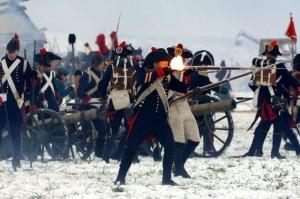Die Kanonen werden vom Feind angegriffen