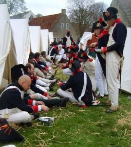 Bild 26 - Stärkung im Lager nach der siegreichen Schlacht