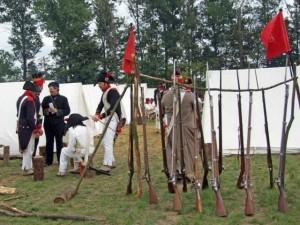 Bild 1 - Schnell ist unser Lager hergerichtet
