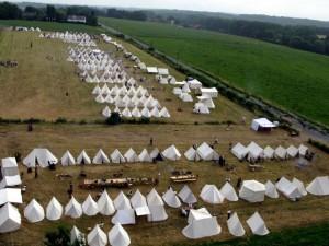 Abschnitt 1 Bild 1 - Das Lager der Franzosen aus der Vogelperspektive