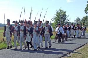 Bild 8 - Die französischen Truppen gehen vor.