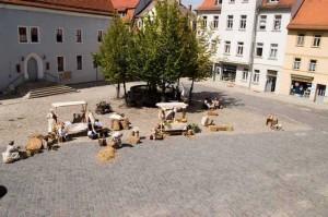 Bild 13 - Der Marktplatz vor dem Gefecht