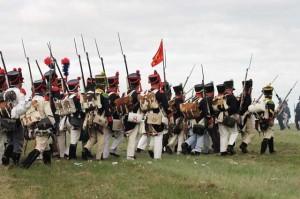 Bild 10 - Die Division Pecheux marschiert dem Feind entgegen