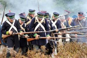 Bild 27 - Eine preußische Abteilung geht zum Nahangriff über