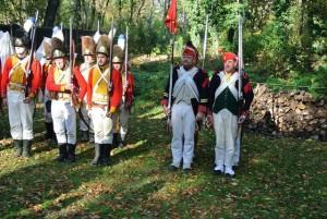Bild 1 - Mit den Dänen (Norwegern) Hessen und uns bilden wir eine Grenadierkompanie