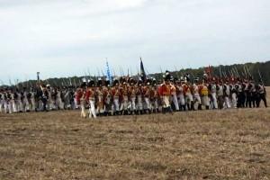 Bild 14 - Nun rückt die 1. Brigade vor. Unsere Kompanie bildet die Spitze (Tete)