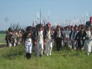 Bild 13 - Das Bataillon formiert sich auf dem Schlachtfeld.